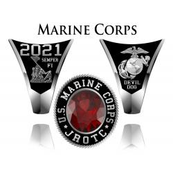 Medium Marine Corps JROTC Ring